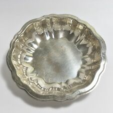 "Vintage Silver-Plate Small Bowl Scalloped Edge 5-3/4"" Candy Dish Trinket Bowl"