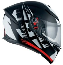 CASCO MOTO INTEGRALE AGV K5 S DARKSTORM BLACK RED MATT PINLOCK MAX VISION TG MS