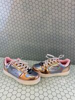 Skechers ENERGY LIGHTS Rose Gold Synthetic Patent Lace Up Shoes Girls Size 3
