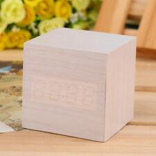 Best Wooden Wood Digital LED Desk Alarm Clock Thermometer Timer Calendar DP