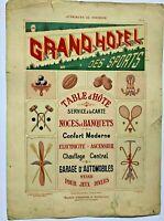 """Pochoir modèles d'enseignes """" GRAND HOTEL """", par A. CHARAYON, vers 1900"""