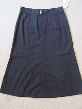 New Women's Charter Club Black Tencel Full Length Skirt Size 12P 12 Petite $55