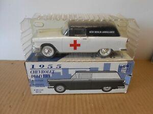 liberty classics diecast car bank 1955 chevrolet delivery new berlin ambulance