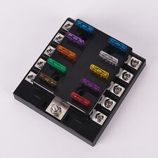 Car Truck 10 Way Circuit Standard Ato Blade Fuse Box Block Holder DC 32V