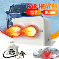 12V 800W Car Portable Dual Heating Heated Heater Fan Defroster Demister Home/Car