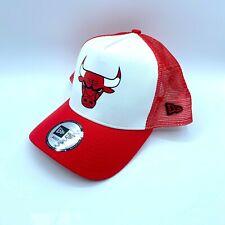 New Era NBA Chicago Bulls Trucker Snapback Cap-Rojo-Blanco