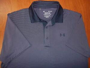 Under Armour Golf Heat Gear Performance Stretch Playoff Graphic Polo Shirt L NEW