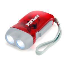 Linterna de dinamo autorecargable de gatillo 2 led