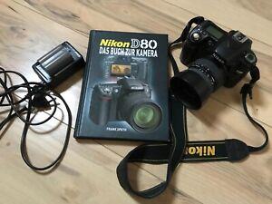 Nikon D80, Spiegelreflexkamera, mit Zubehörpaket
