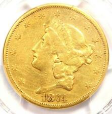 1874-CC Liberty Gold Double Eagle $20 - PCGS VF Details - Rare Carson City Coin!