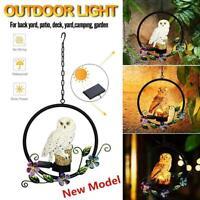 Solar Power Garden Lights Owl Parrot Hanging Path Lawn Yard LED Landscape Light