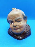 tête moine terre cuite vernissé pot à miel