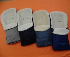 Footmuff Sheepskin Merino Wool 100% Size 95cm for Buggy Stroller 4 Colors NEW
