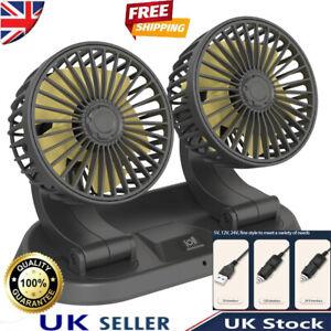 🔥🔥HOT!!! Car Fan 24V/12V Car Cooling Fan Truck Strong Wind Double-head Fan