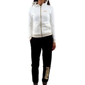 Puma Tuta da Donna con Cappuccio Gold Metallic Bianca Taglia S Cod 847606-02