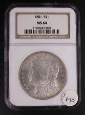 1881 Morgan Dollar NGC-MS64