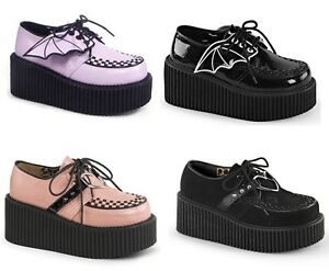 Demonia CREEPER-205 CREEPER-206 Women's Platform Creepers