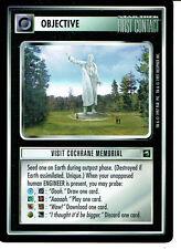STAR TREK CCG FIRST CONTACT RARE CARD VISIT COCHRANE MEMORIAL