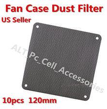 10x 120mm Computer PC Dustproof Cooler Fan Case Cover Dust Filter Mesh 40 screws