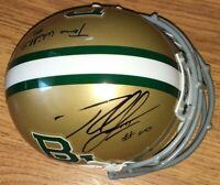 Robert Griffin III RG3 Terrance Williams signed Baylor Bears mini helmet TriStar