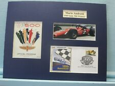 Mario Andretti Wins the 1969 Indy 500 & First day Cover honoring the Indy 500