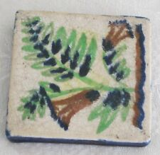 Vintage Glazed Ceramic Art Tile - Marked