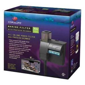 Coralife Marine Filter With Protein Skimmer For Salt Water Aquariums Up To 30 G