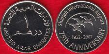 """United Arab Emirates 1 dirham 2007 """"Sharjah International Airport"""" UNC"""