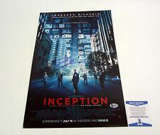 Leonardo DiCaprio Signed Autograph Inception Movie Poster Beckett BAS COA