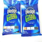 Lot 2 Pledge Multi Surface Wipes Spray Clean & Dust Wood Metal Glass Electronics photo