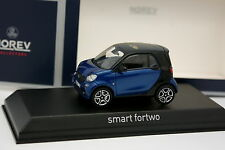 Norev 1/43 - Smart Fortwo 2015 Bleue