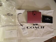 COACH 1941 Glovetanned Leather Small Trifold Wallet In Primrose NWT!