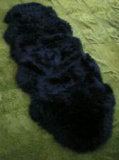 XXXL 6ft - BLACK - 100% GENUINE AUSTRALIAN REAL DOUBLE SHEEPSKIN RUG - BRAND NEW