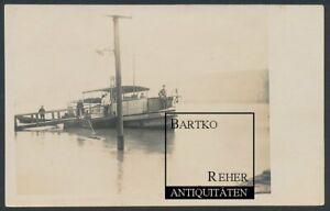 Foto ca. 1920 Dampfer Johanna Binnen-Dampfschiff liegt am Anleger
