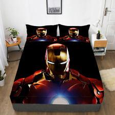 The Avengers Iron Man Fitted Sheet 3PCS Bed Sheet & Pillowcase Fans Bedding set