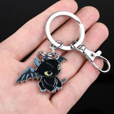 """Night Fury Toothless """"How to Train Your Dragon"""" Pet Pendant Keychain Keyring BLK"""