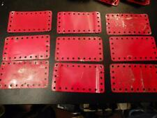 MECCANO 9 Red 2.5 x 4.5 inch Flexible Plates 191
