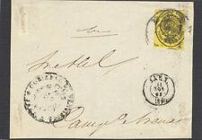 Año 1855. Frontal con sello. 1/2 onza del 8 de Noviembre. Tamaño 110 x 84 mm.