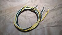 9' of Gavitt 22 awg Cloth Covered Wire Yellow, Black White for Fender Tele Strat