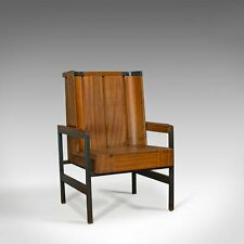 Vintage Arm Chair, English, Teak, Wing-back, Seat, Modernist Taste, 20th Century