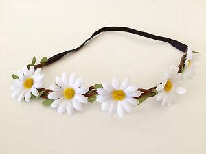 Floral flower headband wedding bridesmaid festival summer boho hair band garland