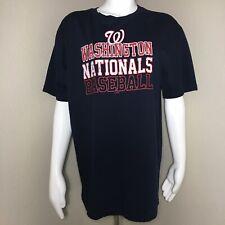 Concepts Men's Large Sleep Shirt Washington Nationals Baseball MLB Grudge Fonts