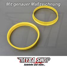 2x Zentrierringe in Gelb 74.1 mm - 72.6 mm für BMW