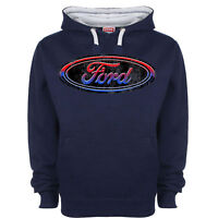 Ford Hoody Hoodie Genuine Licensed Clothing Oval Logo Classic Vintage Retro Car