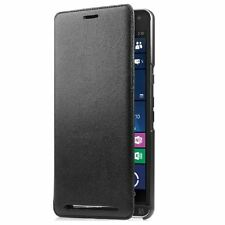 GENUINE HP BLACK LEATHER FOLIO FLIP WALLET CASE COVER FOR HP ELITE X3 2016