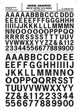 Woodland Scenics [WOO] Dry Transfer Large Gothic Letters Black MG732 WOOMG732