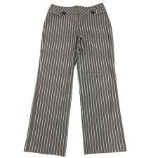 Ann Taylor Loft Womens Striped Stretch Trouser Pants Size 8