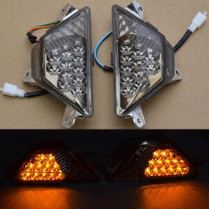 Smoke LED Front Turn Signal Light Indicator For Kawasaki Ninja 300 EX300 13-17