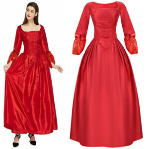 Long Dress Women Kids Costume Hamilton Maria Reynolds Cosplay Outfits Ball Gown