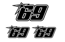 3x Startnummer 69 In Memory of Nicky Hayden